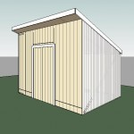 Shed design image - exterior perspective.
